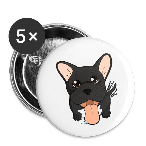 Bouledogue Francese nero - Confezione da 5 spille piccole (25 mm)