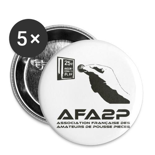 afa2ppretsombre - Lot de 5 petits badges (25 mm)
