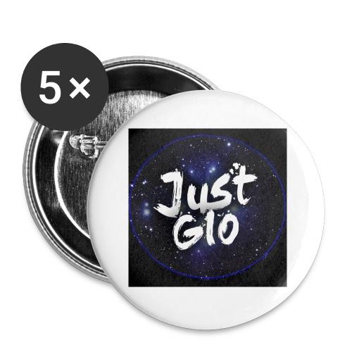 Just gio - Confezione da 5 spille piccole (25 mm)
