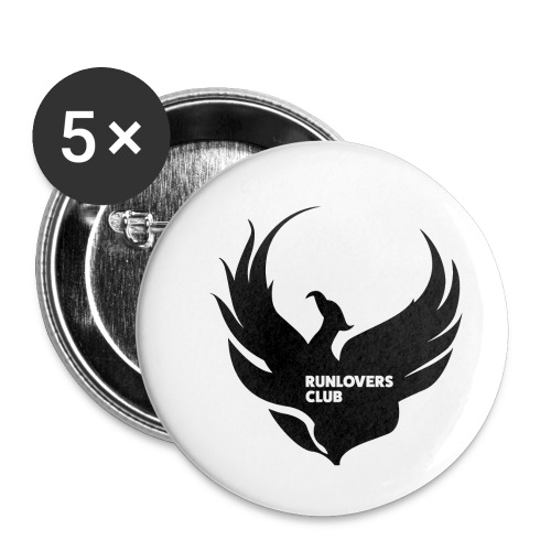 Runlovers Club v2 - Confezione da 5 spille piccole (25 mm)