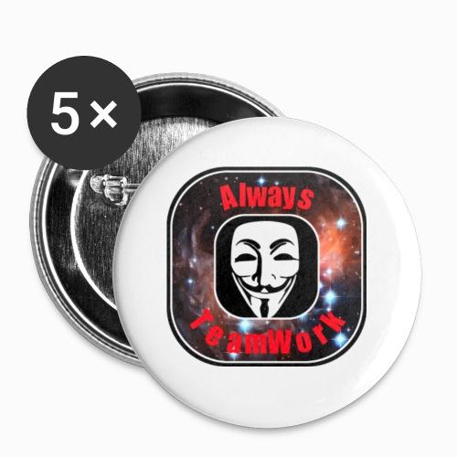 Always TeamWork - Buttons klein 25 mm (5-pack)