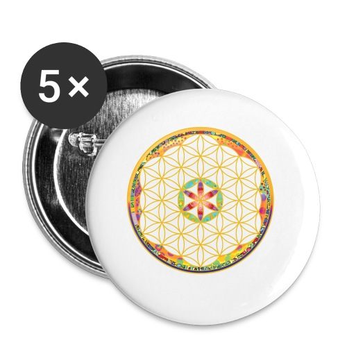 flower of life - Buttons small 1''/25 mm (5-pack)