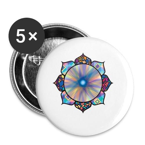 Buddha Flower - Buttons small 1''/25 mm (5-pack)