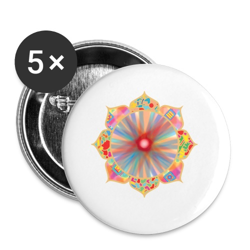 Colored Lotus - Buttons small 1''/25 mm (5-pack)