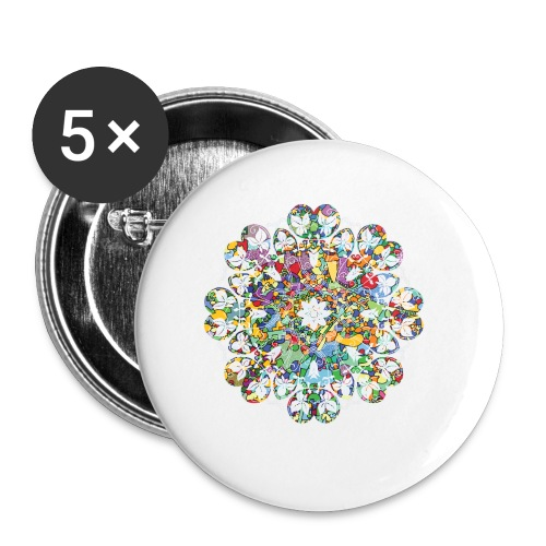 Flower Power - Buttons small 1''/25 mm (5-pack)