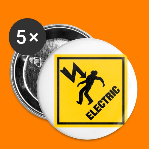 electric - Buttons small 1''/25 mm (5-pack)