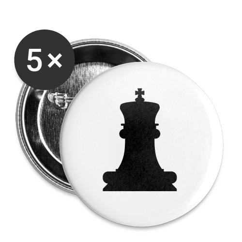 The Black King - Buttons small 1''/25 mm (5-pack)