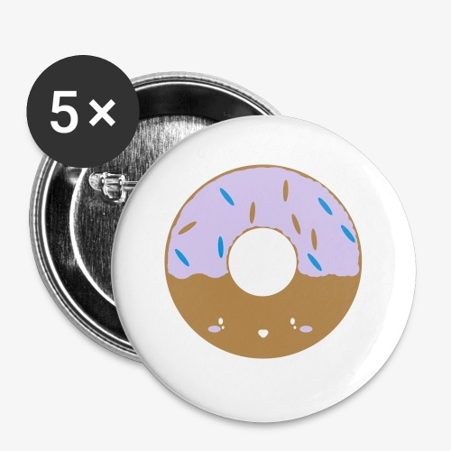 Icing Donut - Buttons small 1''/25 mm (5-pack)