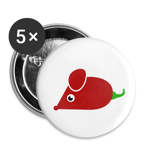 Chillimouse - Buttons klein 25 mm (5er Pack)