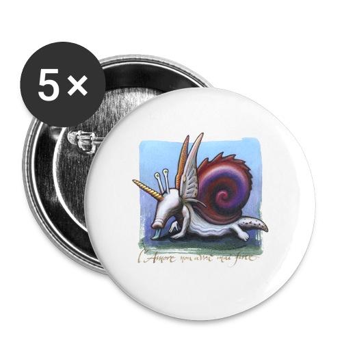 Unichiocciolo - Confezione da 5 spille piccole (25 mm)