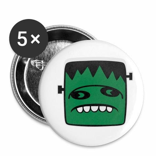 Fonster Weisser Rand ohne Text - Buttons klein 25 mm (5er Pack)