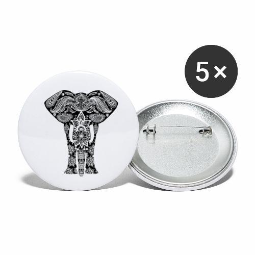 Ażurowy słoń - Przypinka mała 25 mm (pakiet 5 szt.)
