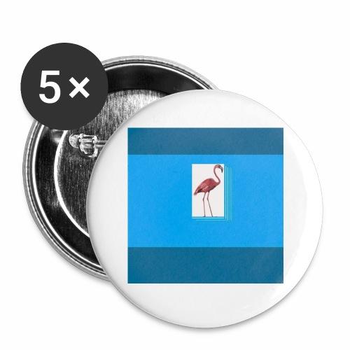 Flamingoscotteri - Confezione da 5 spille piccole (25 mm)
