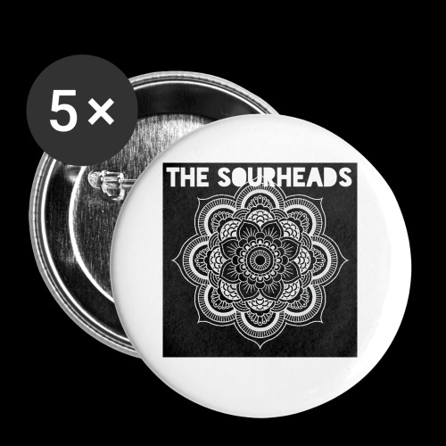 The Sourheads Mandala - Buttons small 1''/25 mm (5-pack)