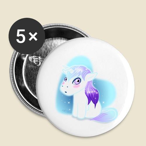 Licorne n°2 - Lot de 5 petits badges (25 mm)
