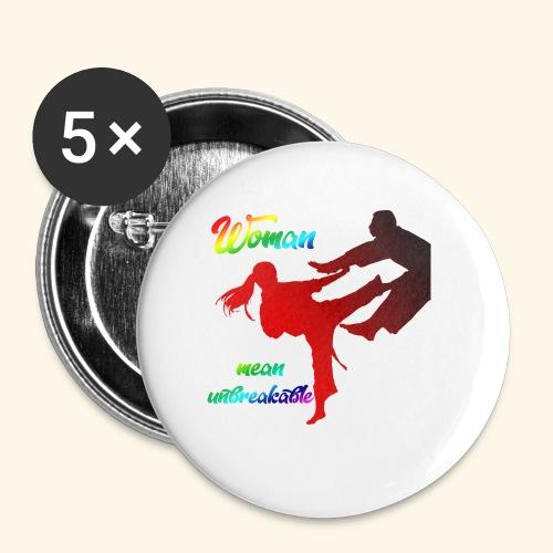 woman mean unbreakable - Confezione da 5 spille piccole (25 mm)