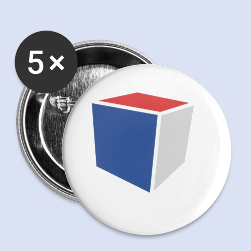 Cube Minimaliste - Lot de 5 petits badges (25 mm)