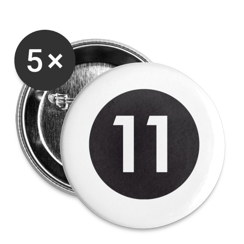 11 ball - Buttons small 1''/25 mm (5-pack)
