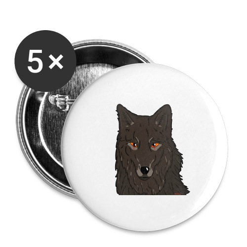 HikingMantis Wolf png - Buttons/Badges lille, 25 mm (5-pack)