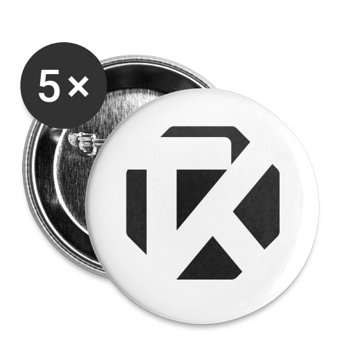 Logo TK Noir - Lot de 5 petits badges (25 mm)