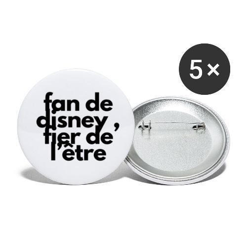 Fan de - Lot de 5 petits badges (25 mm)