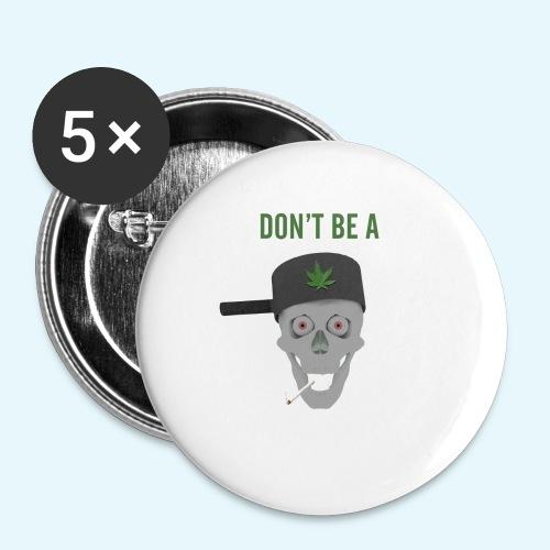 Pothead - Små knappar 25 mm (5-pack)