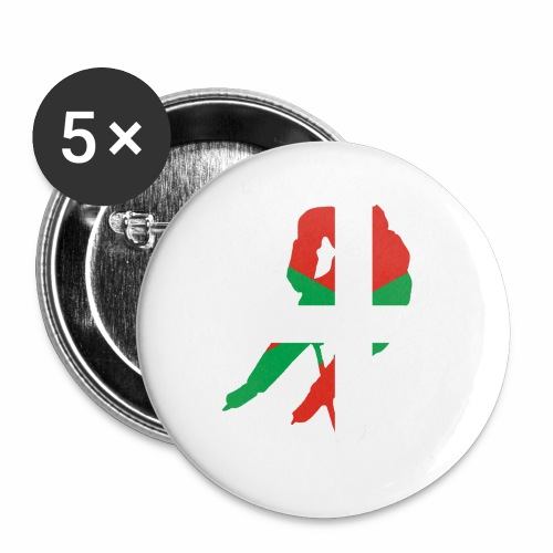 hockeyeur et basque - Lot de 5 petits badges (25 mm)