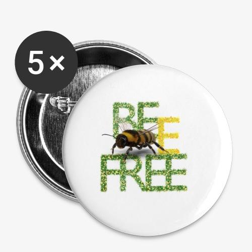 bee free bądż wolna wolny - Przypinka mała 25 mm
