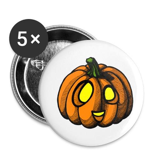 Pumpkin Halloween scribblesirii - Buttons/Badges lille, 25 mm (5-pack)