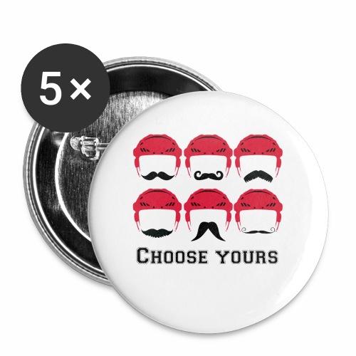novembre et moustache - Lot de 5 petits badges (25 mm)