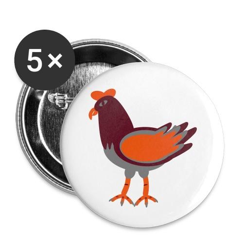 Cock.svg - Confezione da 5 spille piccole (25 mm)