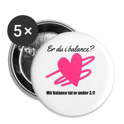 I Balance Design - Buttons/Badges lille, 25 mm (5-pack)