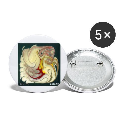 TIAN GREEN Mosaik DE114 - Axolotl - Buttons klein 25 mm (5er Pack)