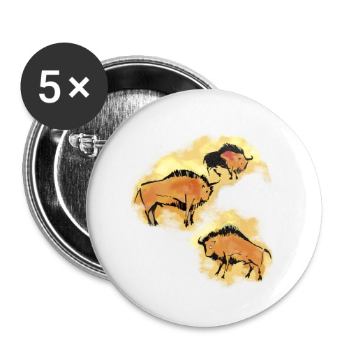 Wisente - Buttons klein 25 mm (5er Pack)