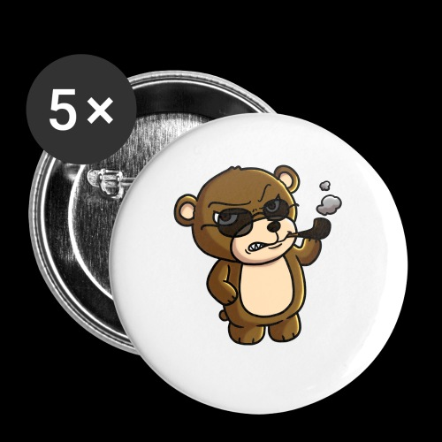 AngryTeddy - Buttons small 1''/25 mm (5-pack)