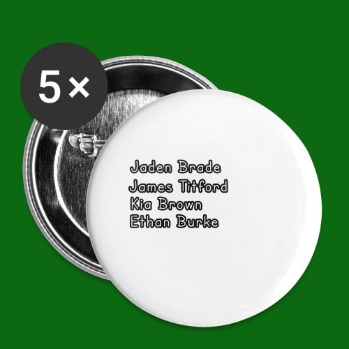 Glog names - Buttons small 1''/25 mm (5-pack)