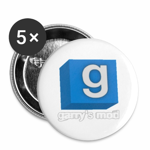 Gmod - Lot de 5 petits badges (25 mm)