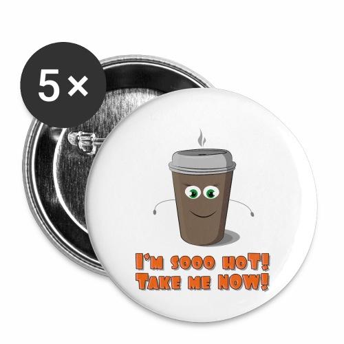 Coffee to go - Przypinka mała 25 mm (pakiet 5 szt.)