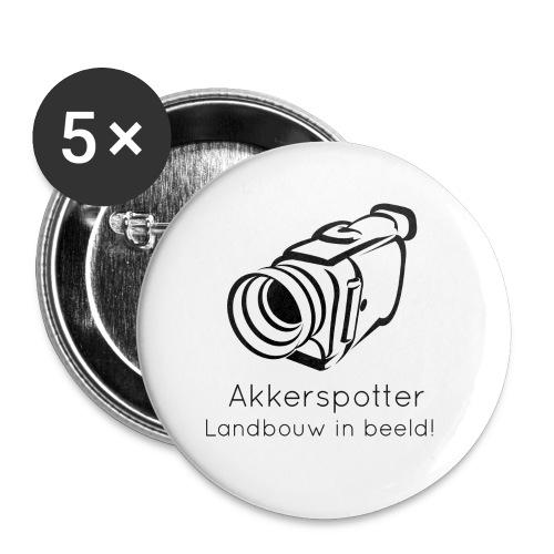 Logo akkerspotter - Buttons klein 25 mm (5-pack)