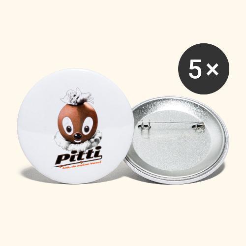 Pittiplatsch 3D Ach, du du meine Nase 3D auf hell - Buttons klein 25 mm (5er Pack)