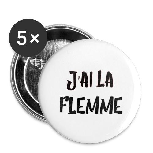 J'ai la FLEMME - Lot de 5 petits badges (25 mm)