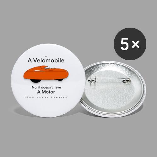 it s a velomobile black text - Rintamerkit pienet 25 mm (5kpl pakkauksessa)