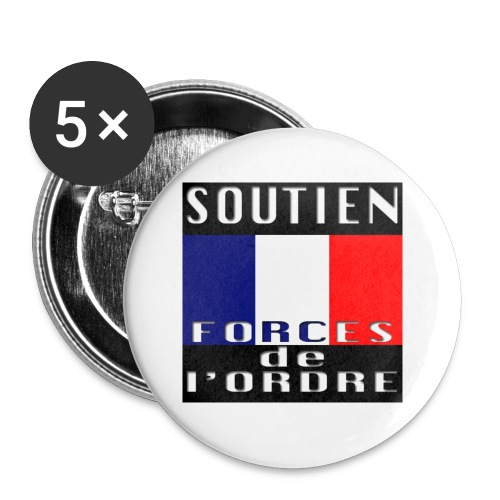 Soutien aux Forces de l'Ordre - Lot de 5 petits badges (25 mm)
