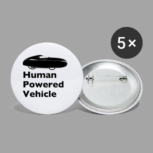 Quest Human Powered Vehicle 2 black - Rintamerkit pienet 25 mm (5kpl pakkauksessa)