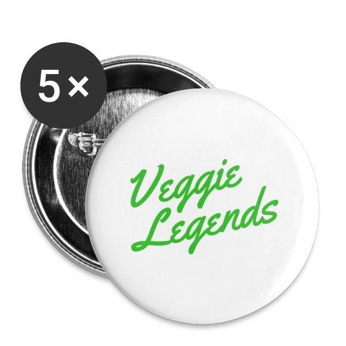 Veggie Legends - Buttons small 1''/25 mm (5-pack)