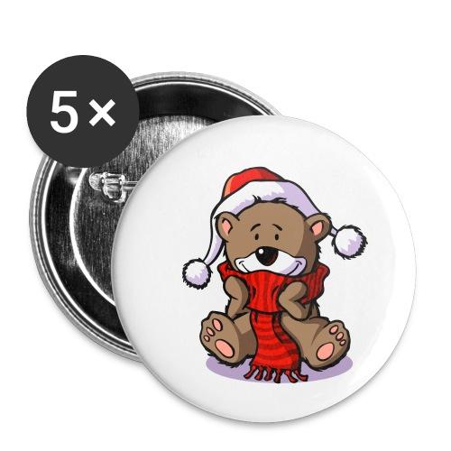 vl080b_winterbaer_4c - Buttons klein 25 mm (5er Pack)