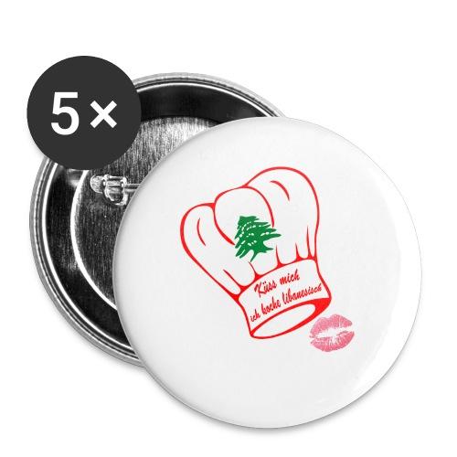 Libanon Küss den Koch - Buttons klein 25 mm (5er Pack)