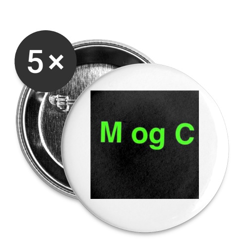 mogc - Buttons/Badges lille, 25 mm (5-pack)