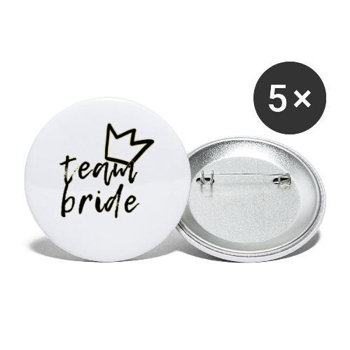 Team Bride - Confezione da 5 spille piccole (25 mm)