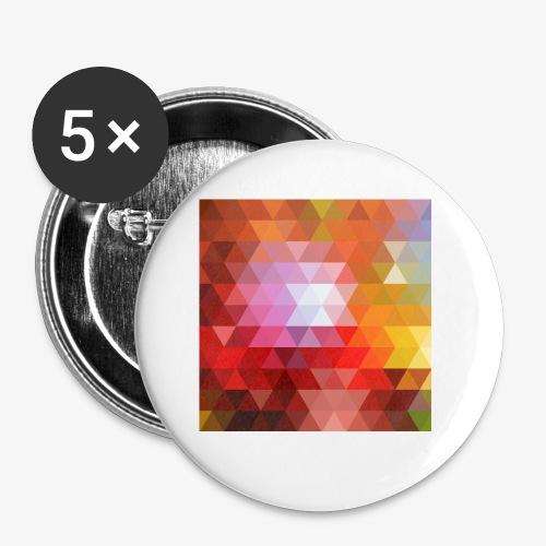 TRIFACE motif - Lot de 5 petits badges (25 mm)
